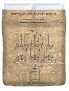 Beer Brewery Patent Illustration Duvet Cover