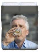 Beer Drinker Duvet Cover