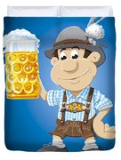 Beer Stein Lederhosen Oktoberfest Cartoon Man Duvet Cover