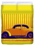 Beetle Pop Gold Duvet Cover