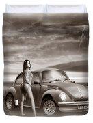 Beetles At The Beach Duvet Cover