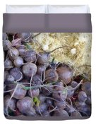 Beets And Mini Onions At The Market Duvet Cover