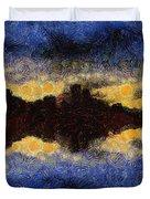 Before Sunset Duvet Cover by Ayse Deniz