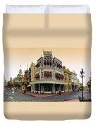 Before The Gates Open Magic Kingdom Main Street. Duvet Cover