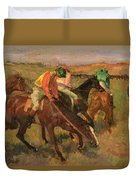 Before The Races Duvet Cover