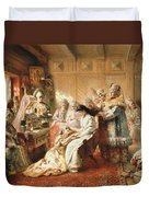 Before The Wedding, 1890 Oil On Canvas Duvet Cover