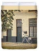 Begijnhof Bicycle Duvet Cover