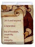 Begining Of A New Era Duvet Cover by Georgeta  Blanaru