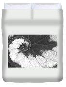 Begonia Escargot Leaf Venation Duvet Cover