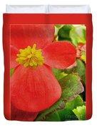 Begonia Volumia Duvet Cover