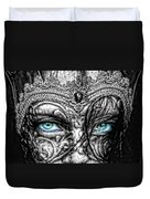Behind Blue Eyes Duvet Cover by Mo T