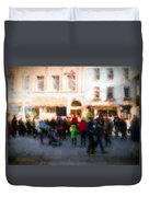 Behind The Crowd Duvet Cover