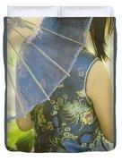 Behind The Umbrella Duvet Cover