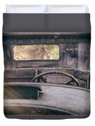 Behind The Wheel Duvet Cover
