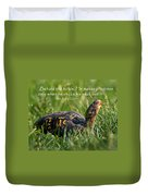 Behold The Turtle Duvet Cover