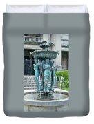 Beiger Mansion Fountain  Mishawaka Indiana Duvet Cover