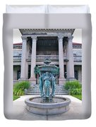 Beiger Mansion Front Entrance Duvet Cover