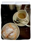 New Orleans Beignets And Coffee Au Lait  Duvet Cover