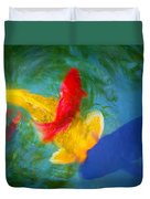 Being Koi Too Duvet Cover