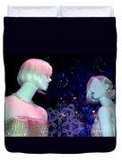 Bejeweled Blondes Duvet Cover