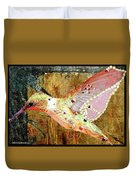 Bejeweled Hummingbird Duvet Cover