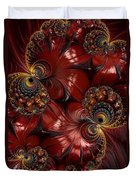 Bejewelled Crimson Duvet Cover