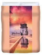 Belem Tower Duvet Cover