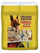 Belgian Malinois Art Canvas Print - North By Northwest Movie Poster Duvet Cover