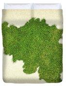 Belgium Grass Map Duvet Cover by Aged Pixel