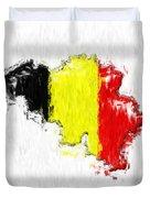 Belgium Painted Flag Map Duvet Cover