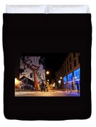 Belgium Street Art Duvet Cover by Juli Scalzi
