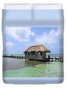 Belize Pier And Seascape Duvet Cover