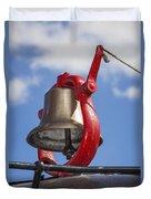Bell On Steam Engine Duvet Cover