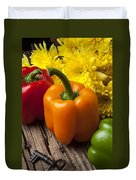 Bell Peppers And Poms Duvet Cover