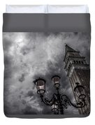 Bell Tower And Street Lamp Duvet Cover