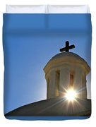 Bell Tower Sun Burst  Tumacacori Mission Duvet Cover