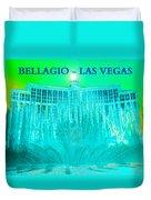 Bellagio Fountains Las Vegas Duvet Cover