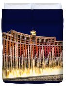 Bellagio Water Show Duvet Cover