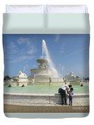 Belle Isle Fountain Splash Duvet Cover