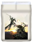 Bellephron Slays Chimera Duvet Cover
