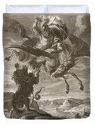 Bellerophon Fights The Chimaera, 1731 Duvet Cover