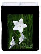 Bellflower - Campanula Carpatica Duvet Cover