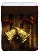 Bells Of Christmas Joy Duvet Cover