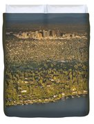 Bellvue Skyline At Sunset Duvet Cover