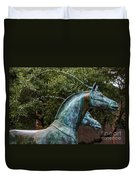 Belmond Charleston Place Horse Fountain Duvet Cover