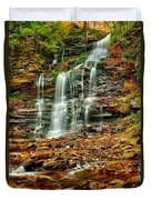Below Ganoga Falls Duvet Cover