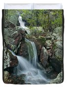 Below Mina Sauk Falls 4 On Taum Sauk Mountain Duvet Cover