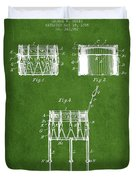 Bemis Snare Drum Patent Drawing From 1886 - Green Duvet Cover