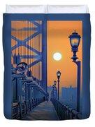 Ben Franklin Bridge Walkway Duvet Cover
