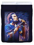 Ben Harper And Mic Duvet Cover